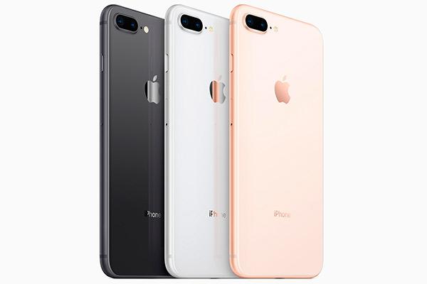 В Айфон 8 цвета используются только самые популярные