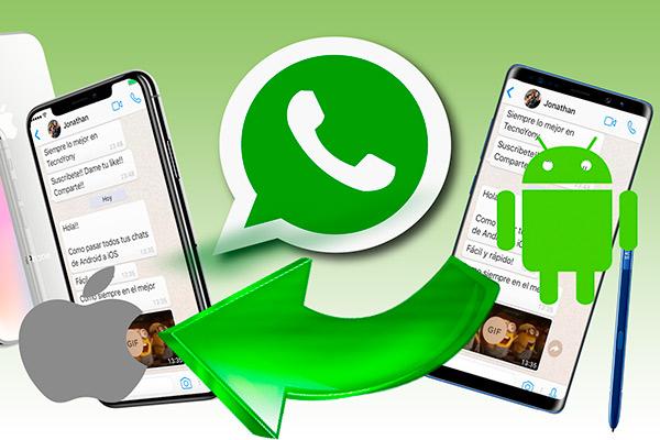 WhatsApp с androID на iPhone как осуществить перенос