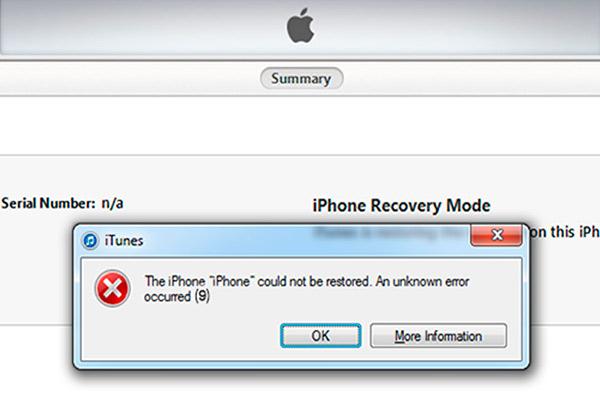 Ошибка 9 iPhone 5s довольно распространенная