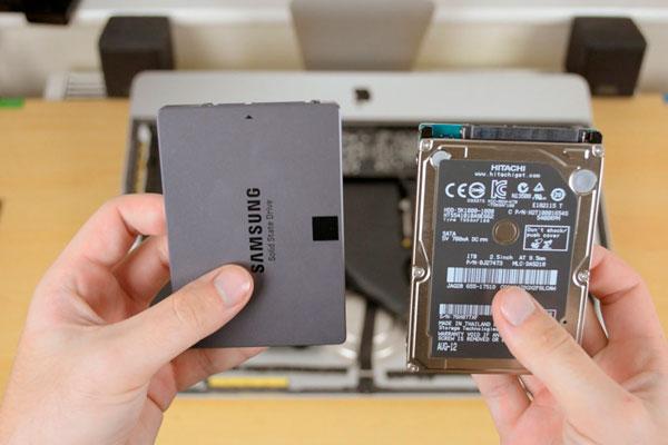 iMac замена HDD на SSD