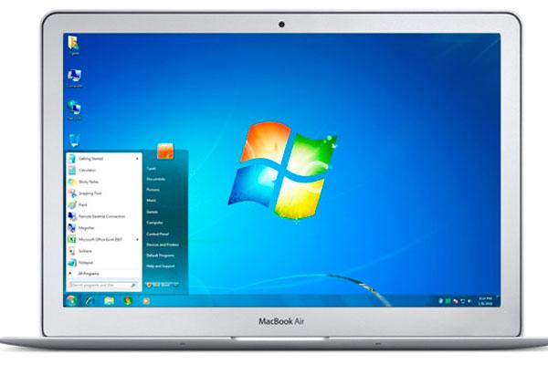 macbook air windows 7
