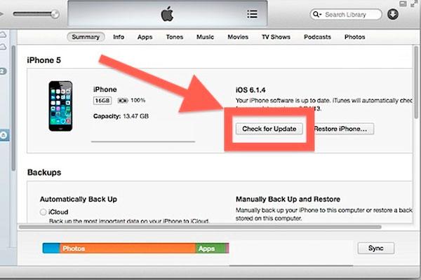 Как обновить iOS через iTunes на компьютере
