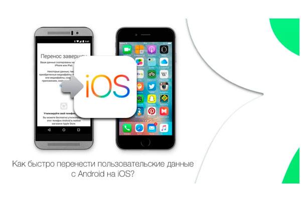 перенос с Андроид на iOS