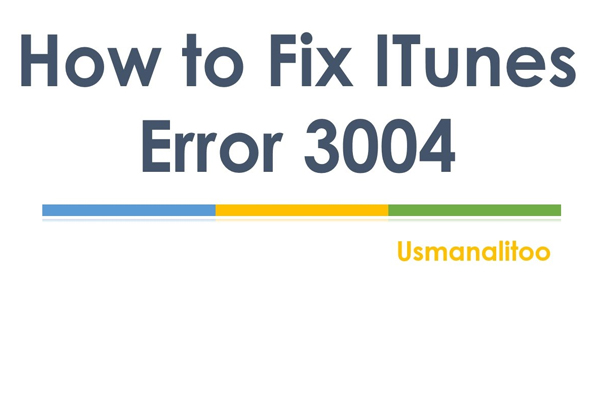 3004 ошибка iTunes